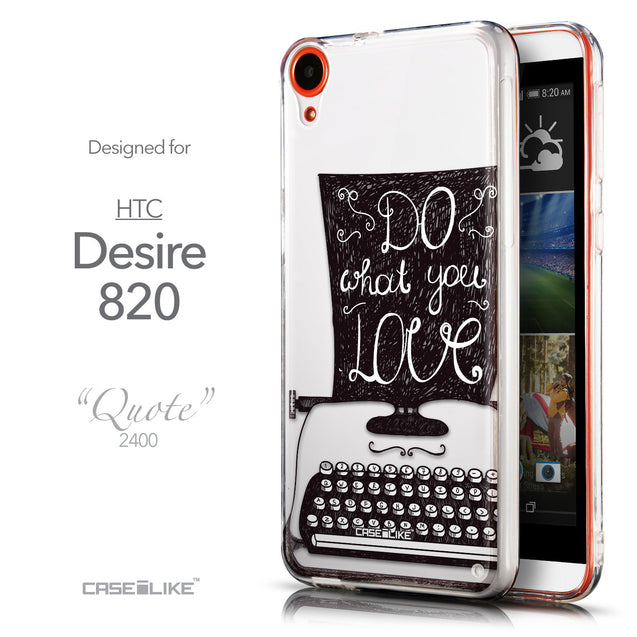 Front & Side View - CASEiLIKE HTC Desire 820 back cover Quote 2400