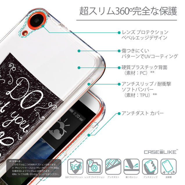 Details in Japanese - CASEiLIKE HTC Desire 820 back cover Quote 2400