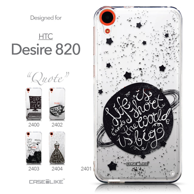 Collection - CASEiLIKE HTC Desire 820 back cover Quote 2401
