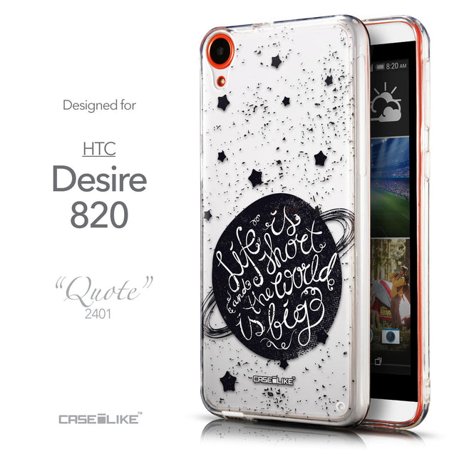 Front & Side View - CASEiLIKE HTC Desire 820 back cover Quote 2401