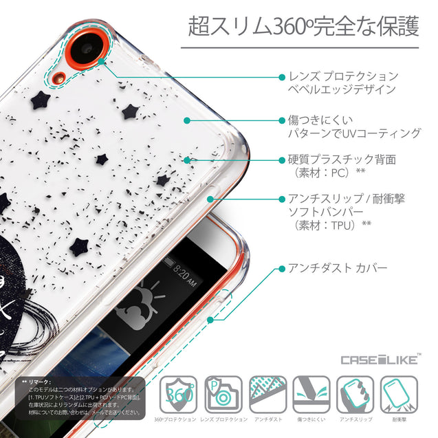 Details in Japanese - CASEiLIKE HTC Desire 820 back cover Quote 2401