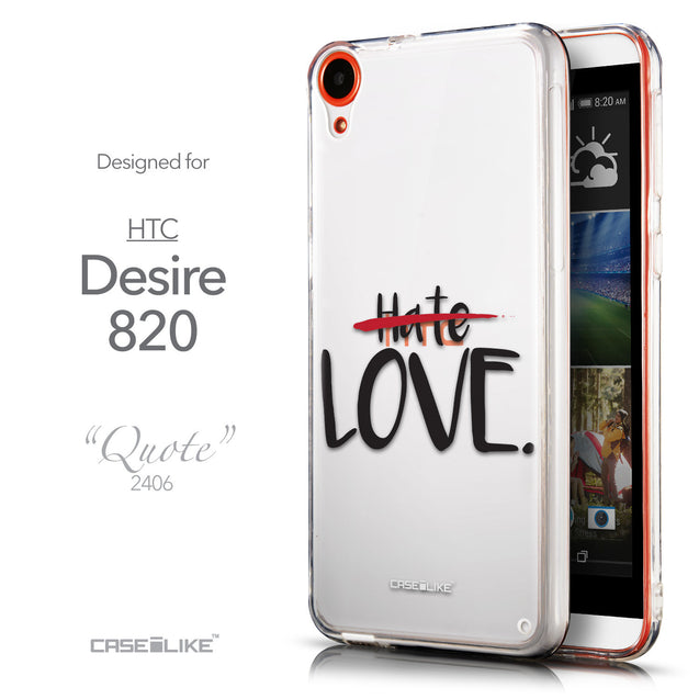 Front & Side View - CASEiLIKE HTC Desire 820 back cover Quote 2406