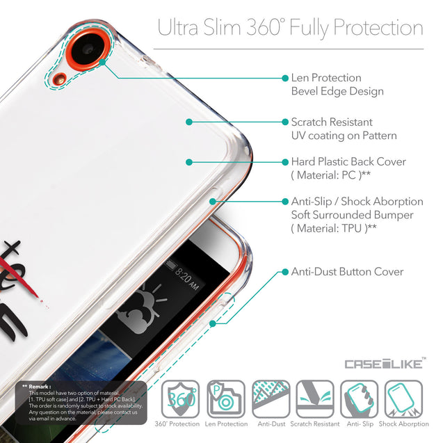Details in English - CASEiLIKE HTC Desire 820 back cover Quote 2406