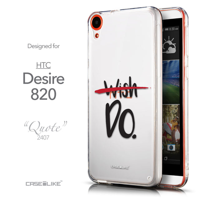 Front & Side View - CASEiLIKE HTC Desire 820 back cover Quote 2407