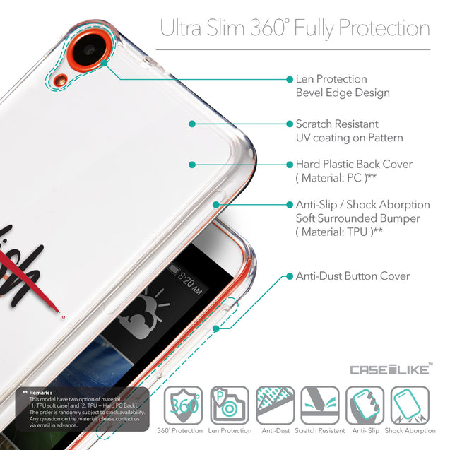 Details in English - CASEiLIKE HTC Desire 820 back cover Quote 2407