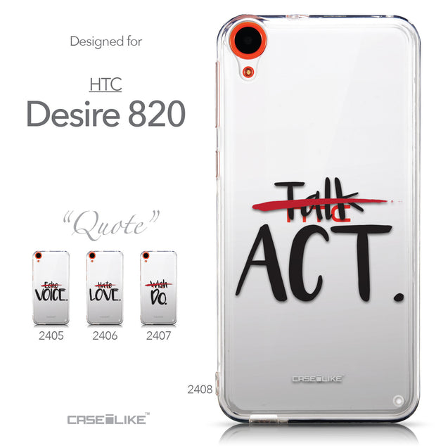 Collection - CASEiLIKE HTC Desire 820 back cover Quote 2408