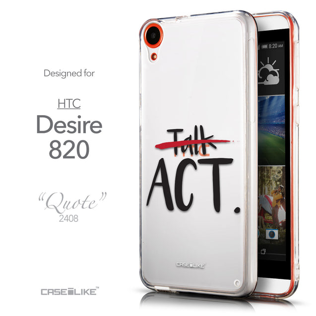 Front & Side View - CASEiLIKE HTC Desire 820 back cover Quote 2408