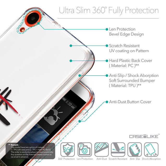 Details in English - CASEiLIKE HTC Desire 820 back cover Quote 2408