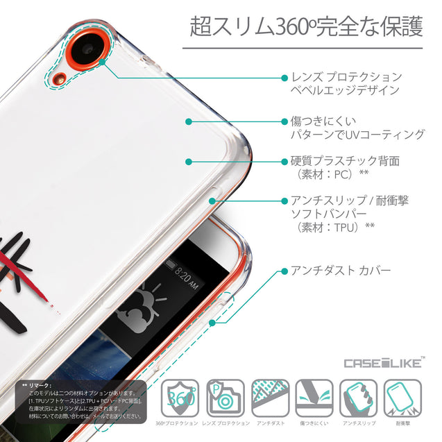 Details in Japanese - CASEiLIKE HTC Desire 820 back cover Quote 2408