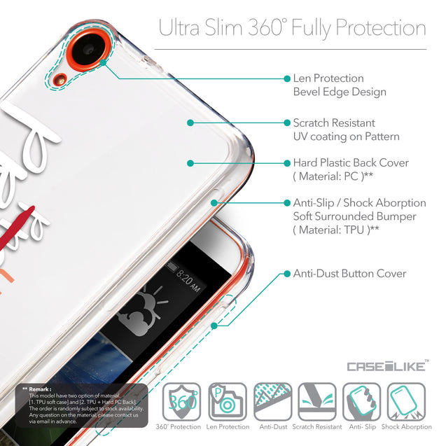 Details in English - CASEiLIKE HTC Desire 820 back cover Quote 2409