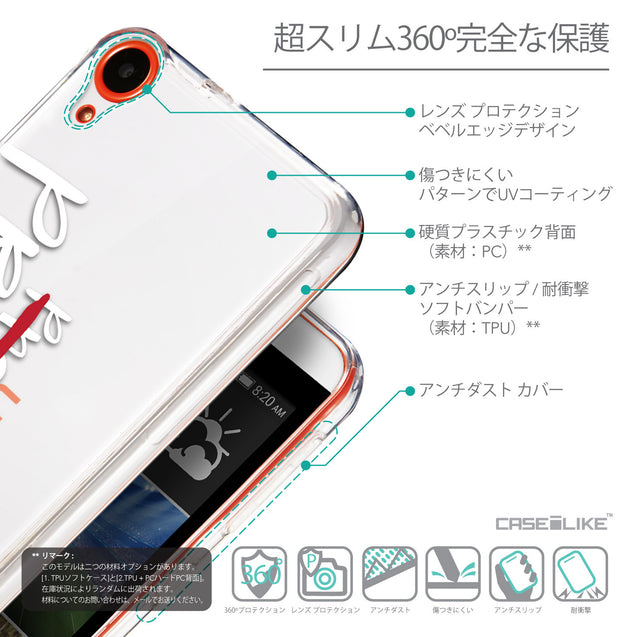 Details in Japanese - CASEiLIKE HTC Desire 820 back cover Quote 2409