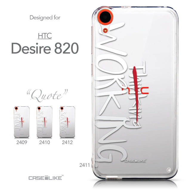 Collection - CASEiLIKE HTC Desire 820 back cover Quote 2411