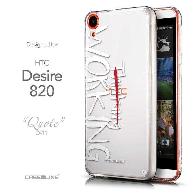 Front & Side View - CASEiLIKE HTC Desire 820 back cover Quote 2411