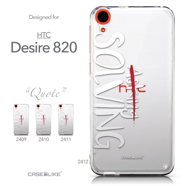 Collection - CASEiLIKE HTC Desire 820 back cover Quote 2412