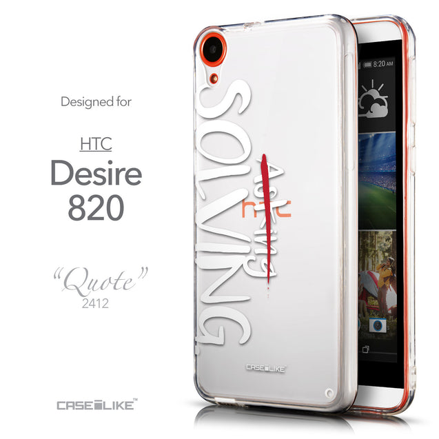 Front & Side View - CASEiLIKE HTC Desire 820 back cover Quote 2412