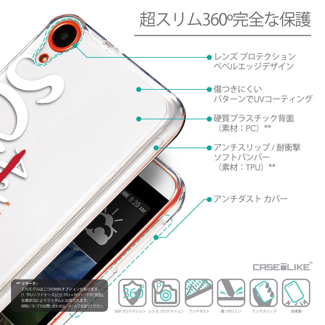 Details in Japanese - CASEiLIKE HTC Desire 820 back cover Quote 2412