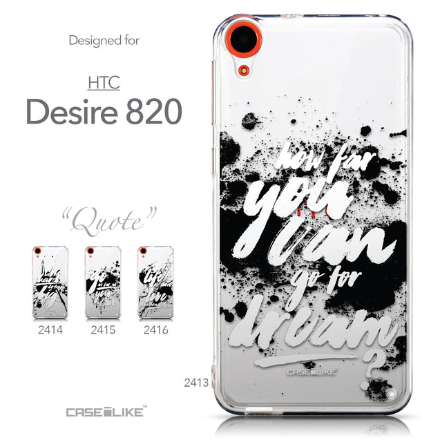 Collection - CASEiLIKE HTC Desire 820 back cover Quote 2413