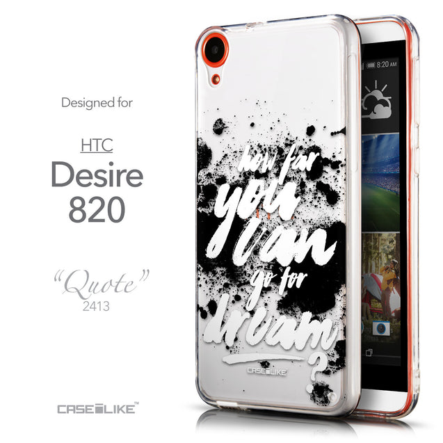 Front & Side View - CASEiLIKE HTC Desire 820 back cover Quote 2413