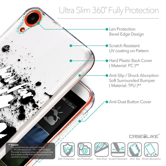 Details in English - CASEiLIKE HTC Desire 820 back cover Quote 2413