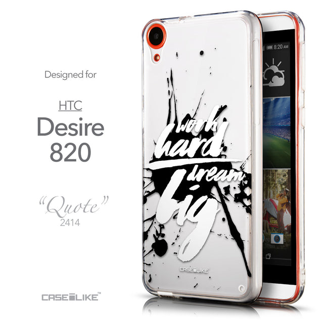 Front & Side View - CASEiLIKE HTC Desire 820 back cover Quote 2414