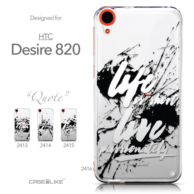 Collection - CASEiLIKE HTC Desire 820 back cover Quote 2416