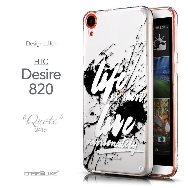 Front & Side View - CASEiLIKE HTC Desire 820 back cover Quote 2416