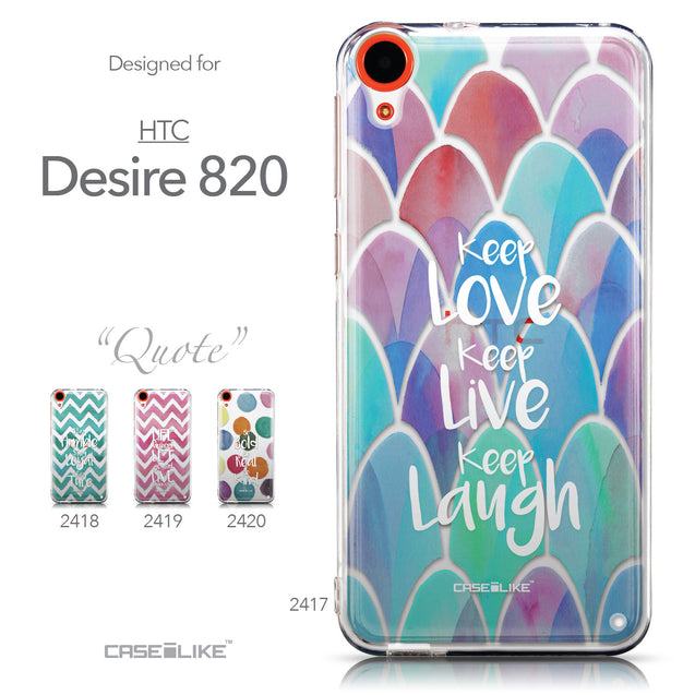 Collection - CASEiLIKE HTC Desire 820 back cover Quote 2417