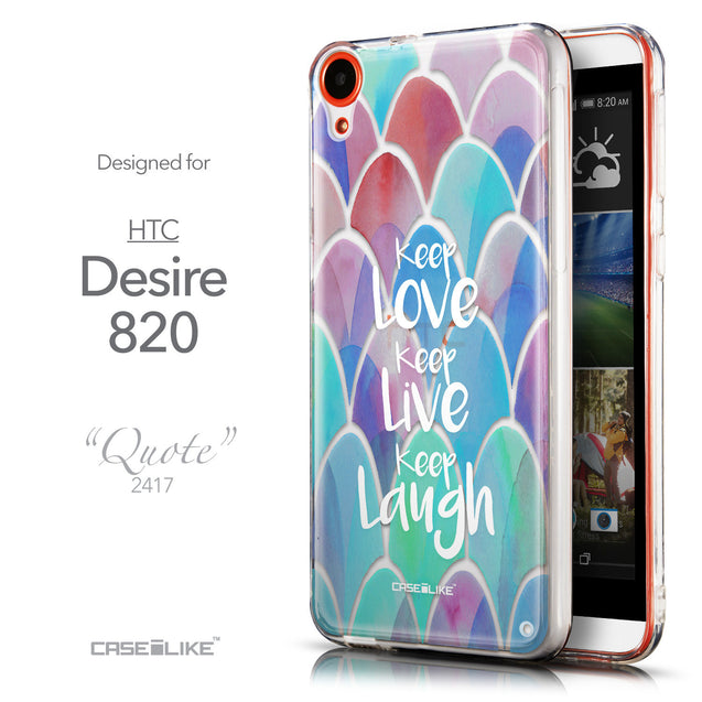 Front & Side View - CASEiLIKE HTC Desire 820 back cover Quote 2417