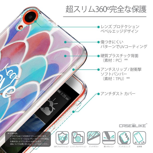 Details in Japanese - CASEiLIKE HTC Desire 820 back cover Quote 2417