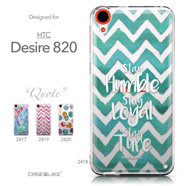Collection - CASEiLIKE HTC Desire 820 back cover Quote 2418