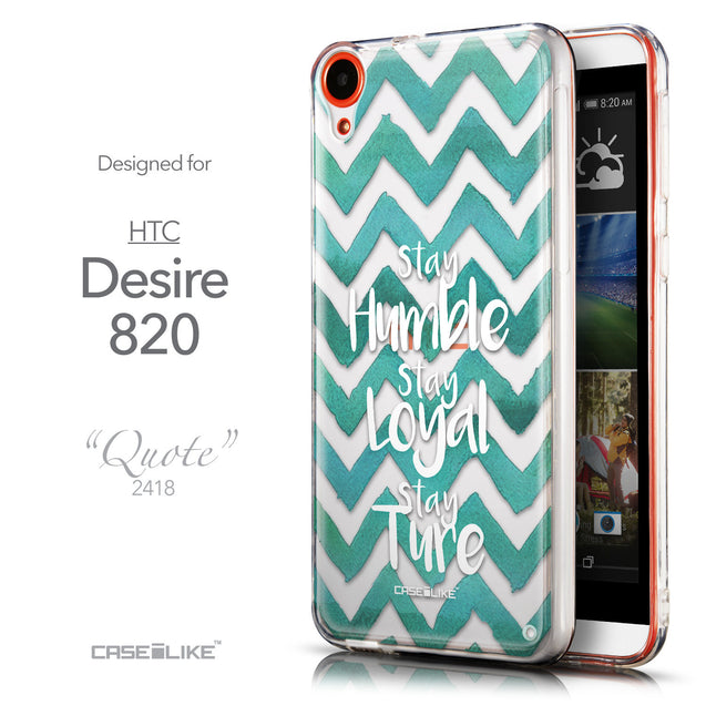 Front & Side View - CASEiLIKE HTC Desire 820 back cover Quote 2418