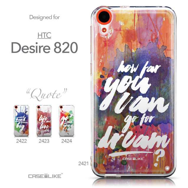 Collection - CASEiLIKE HTC Desire 820 back cover Quote 2421