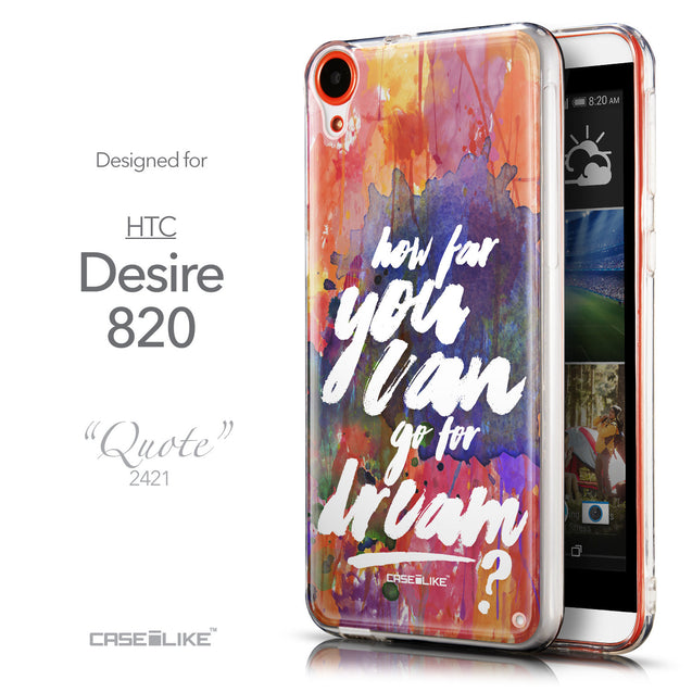 Front & Side View - CASEiLIKE HTC Desire 820 back cover Quote 2421