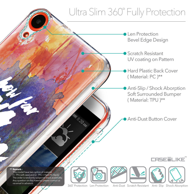 Details in English - CASEiLIKE HTC Desire 820 back cover Quote 2421