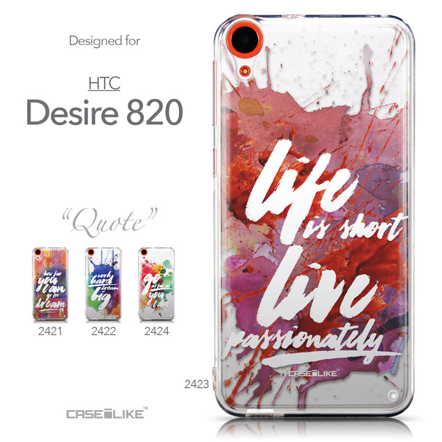 Collection - CASEiLIKE HTC Desire 820 back cover Quote 2423