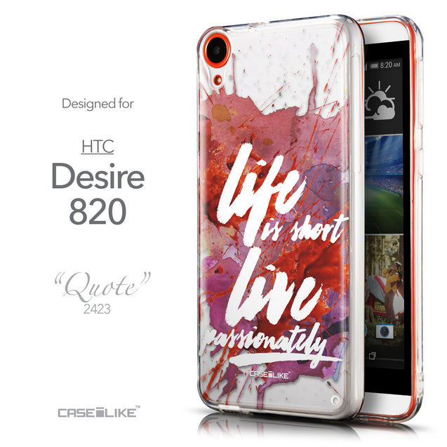 Front & Side View - CASEiLIKE HTC Desire 820 back cover Quote 2423