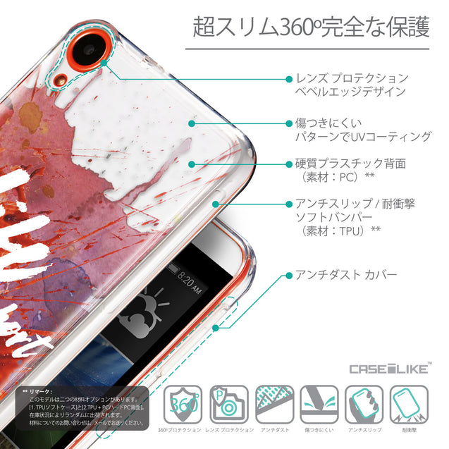 Details in Japanese - CASEiLIKE HTC Desire 820 back cover Quote 2423