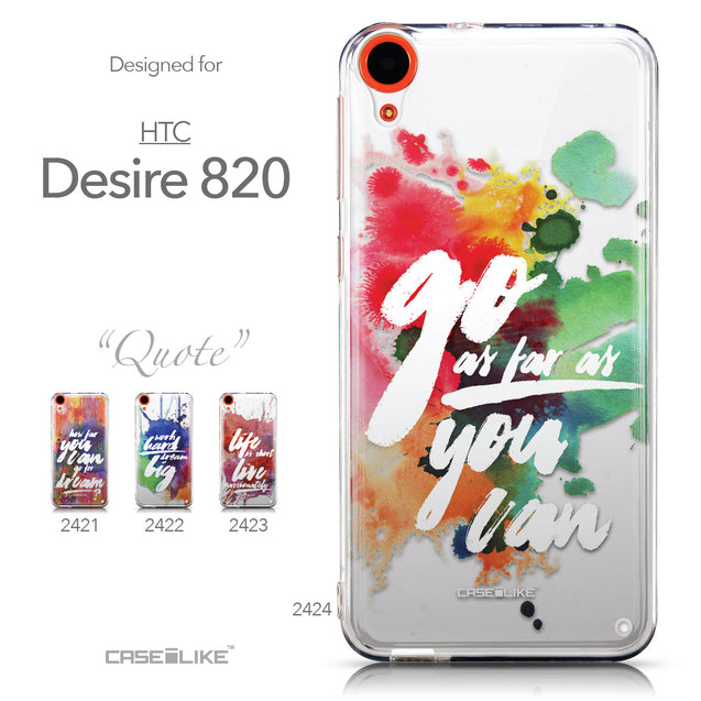 Collection - CASEiLIKE HTC Desire 820 back cover Quote 2424