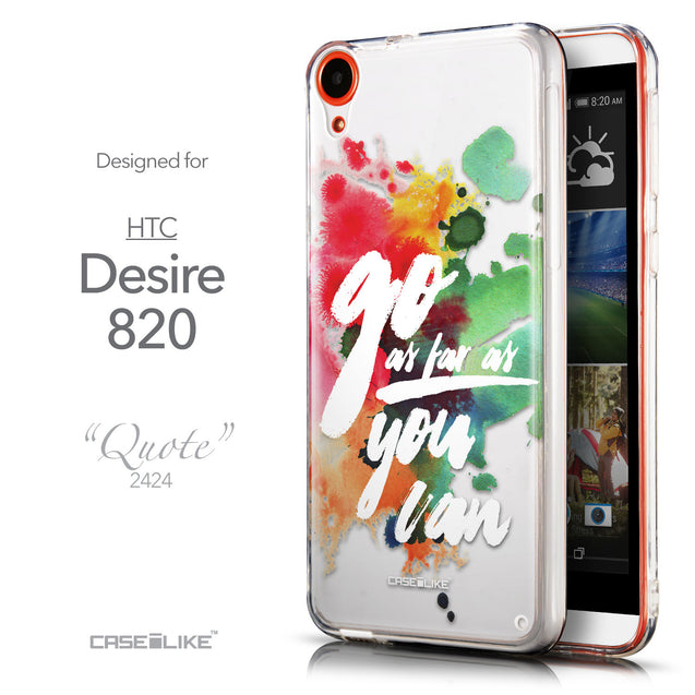 Front & Side View - CASEiLIKE HTC Desire 820 back cover Quote 2424