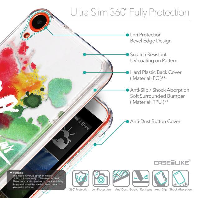 Details in English - CASEiLIKE HTC Desire 820 back cover Quote 2424