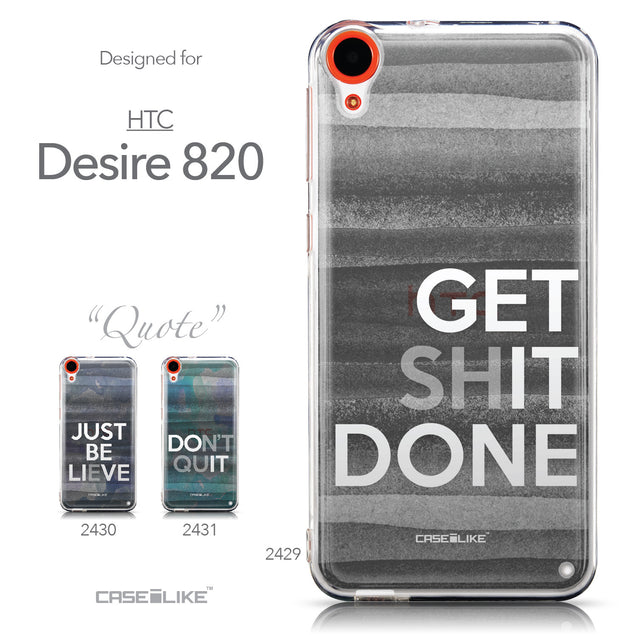 Collection - CASEiLIKE HTC Desire 820 back cover Quote 2429