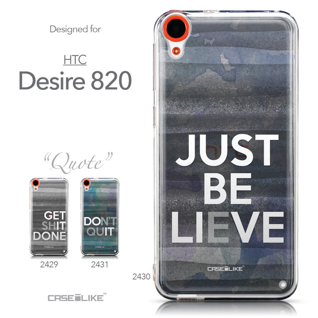 Collection - CASEiLIKE HTC Desire 820 back cover Quote 2430