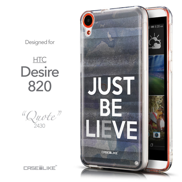 Front & Side View - CASEiLIKE HTC Desire 820 back cover Quote 2430