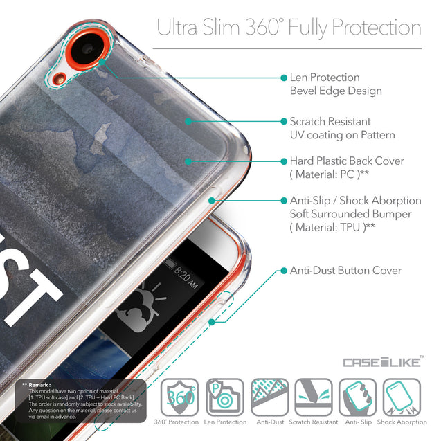 Details in English - CASEiLIKE HTC Desire 820 back cover Quote 2430