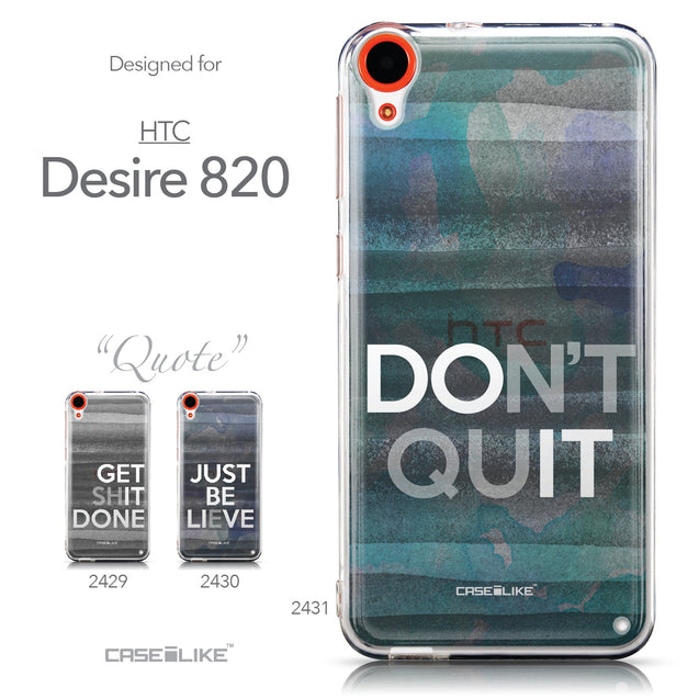 Collection - CASEiLIKE HTC Desire 820 back cover Quote 2431
