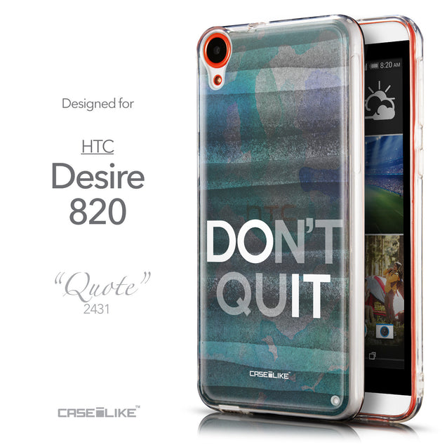Front & Side View - CASEiLIKE HTC Desire 820 back cover Quote 2431