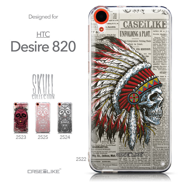 Collection - CASEiLIKE HTC Desire 820 back cover Art of Skull 2522