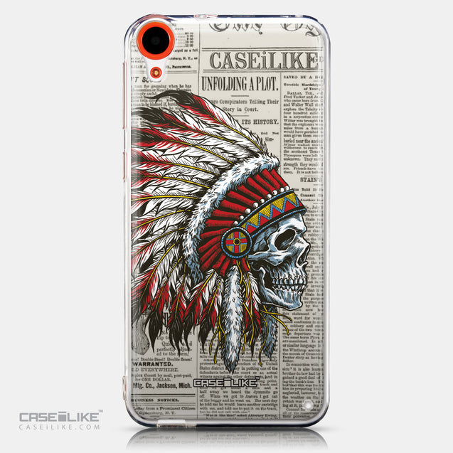 CASEiLIKE HTC Desire 820 back cover Art of Skull 2522