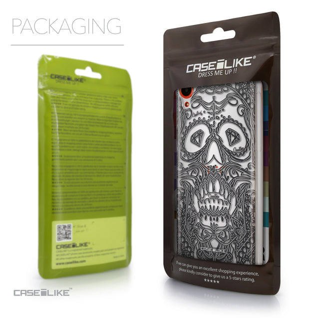 Packaging - CASEiLIKE HTC Desire 820 back cover Art of Skull 2524