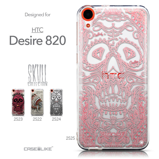 Collection - CASEiLIKE HTC Desire 820 back cover Art of Skull 2525